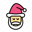 christmas, party, santa, winter icon