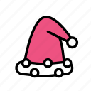 christmas, party, santahat, winter icon