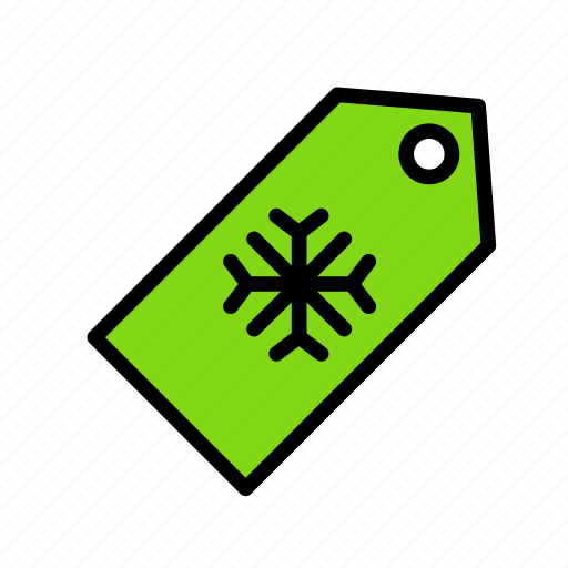 christmas, flaketag, party, snow, winter icon