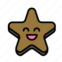 christmas, cookie, party, star, winter icon