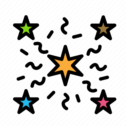 christmas, party, star, winter icon