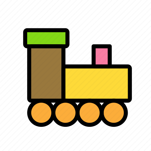 christmas, party, toy, train, winter icon
