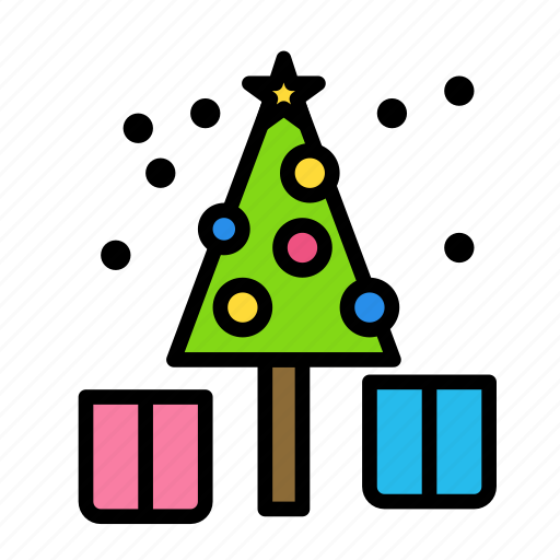 christmas, gift, party, tree, winter icon