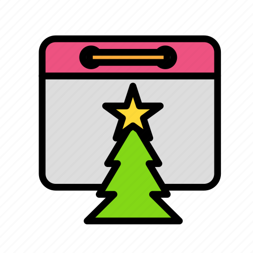 christmas, day, party, tree, winter icon