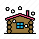 christmas, home, party, winter, wood icon