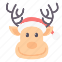 celebration, christmas, gift, holiday, reindeer, xmas icon