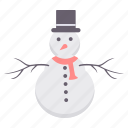 christmas, decoration, man, snow, snowman, winter, xmas icon