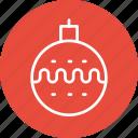 bauble, celebration, christmas, festival icon