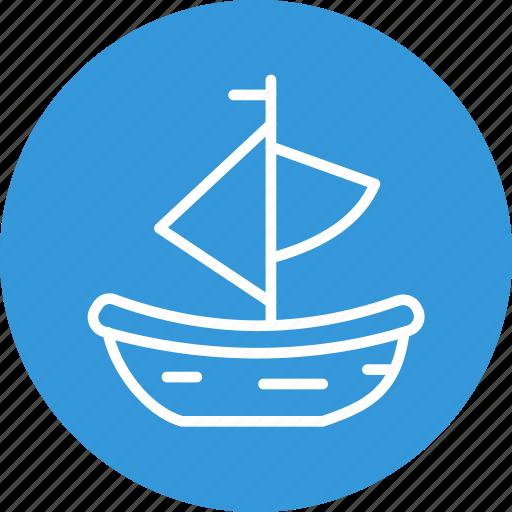 boat, celebration, christmas, festival icon