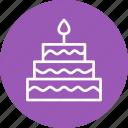 cake, celebration, christmas, festival icon