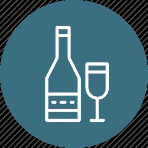 celebration, champagn, christmas, festival icon
