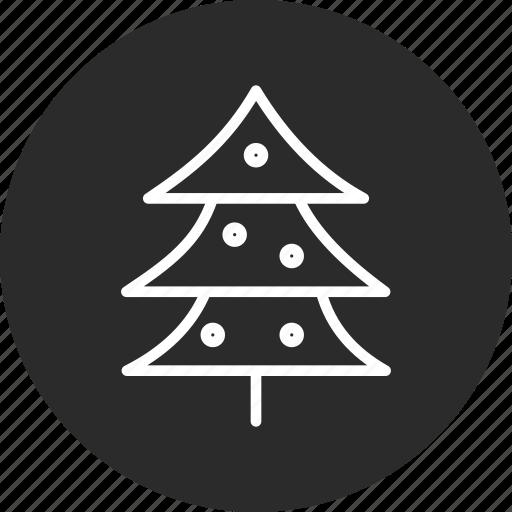 celebration, christmas, festival, tree icon