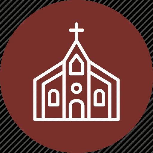 celebration, christmas, church, festival icon