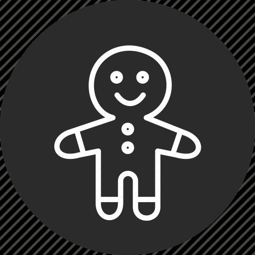 celebration, christmas, festival, gingerbread icon