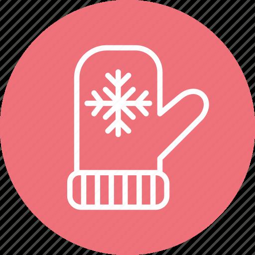 celebration, christmas, festival, mittens icon