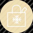 bag, celebration, christmas, festival, shopping icon