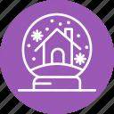 celebration, christmas, festival, globe, snow icon