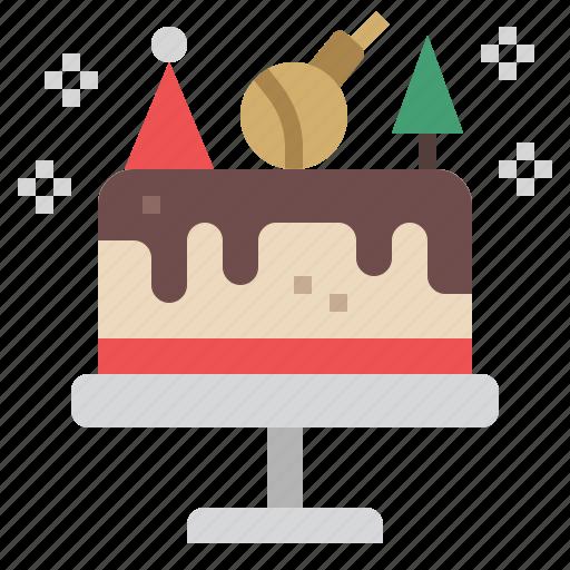 birthday, cake, celebration, christmas, dessert, party, xmas icon