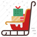 christmas, santa, sleigh, snow, snow sleigh, winter, xmas icon