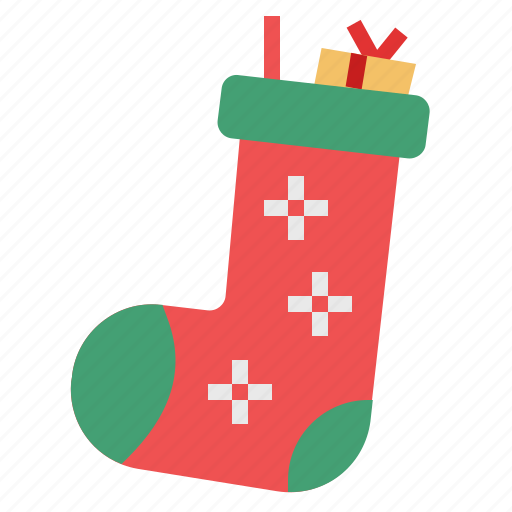 christmas, santa claus, sock, stoking, winter, xmas icon