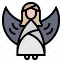 angel, christmas, decoration, wings, xmas icon
