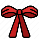 bow, christmas, decoration, gift, ribbon, xmas icon