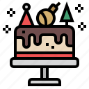 cake, dessert, bakery, birthday, sweet, christmas, celebration