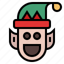 christmas, elf, winter, xmas icon