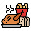 christmas, food, kitchen, meal, restaurant, xmas icon