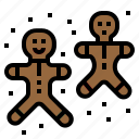 bakery, bread, christmas, cookie, ginger bread, xmas icon