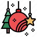 celebration, christmas, christmas tree, decor, decoration, ornament, xmas icon