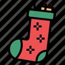 christmas, sock, stoking, winter, xmas icon