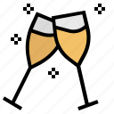 glasses, wine, alcohol, beverage, christmas, drink, xmas icon