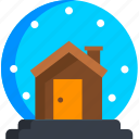 christmas, globe, holiday, new year, snow, winter, xmas icon