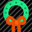 christmas, holiday, new year, winter, wreath, xmas icon