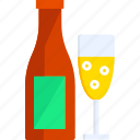 champagne, christmas, holiday, new year, winter, xmas icon