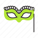 celebration, costume, mask, masquerade, party icon