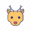 animal, christmas, christmas deer, deer, reindeer icon