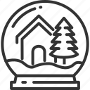 christmas, decoration, gift, house, ornament, snow, tree icon