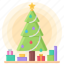 year, tree, new, gift, christmas, winter, decoration