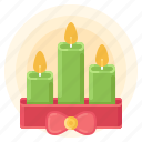 candle, christmas, decoration, new, winter, year icon
