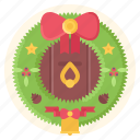 wreath, year, new, christmas, winter, decoration, door