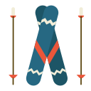 activity, holiday, outdoor, ski, sport, winter icon