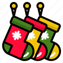 celebration, christmas, decoration, sock, stockings icon