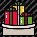 christmas, gift, santa, stocking, stuffers icon