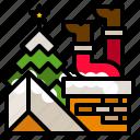 christmas, fireplace, home, fire
