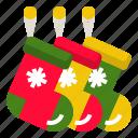 celebration, christmas, decoration, sock, stockings icon