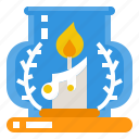 candle, candlelight, fire, flame icon