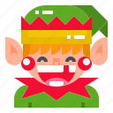character, christmas, cute, elf, xmas icon