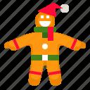 christmas, food, gingerbread, man, sweet